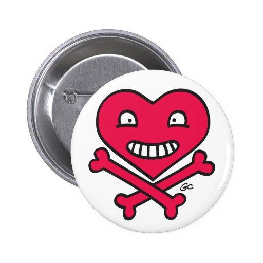 SkullKrush™ Love 'n' Crossbones™ Button