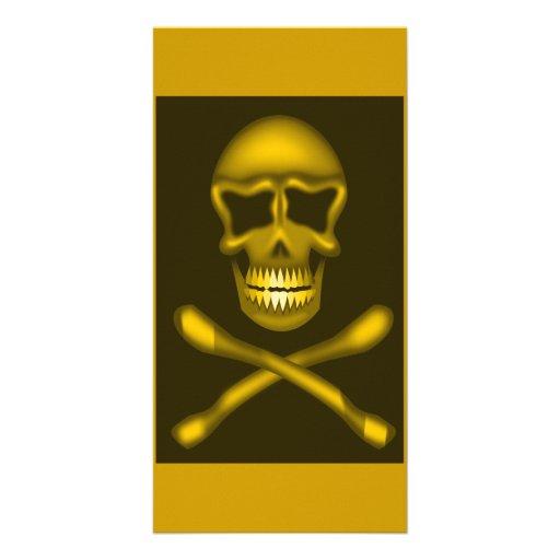 skullNcrossbones_Vector PIRATE SKULL CROSSBONES Custom Photo Card