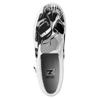 Skullphones vector design printed shoes