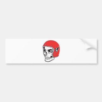 ☞ Skullracer motorcycle helmet Bumper Sticker