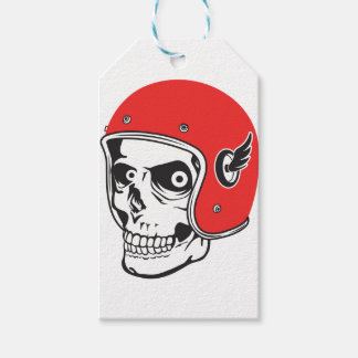 ☞ Skullracer motorcycle helmet Gift Tags