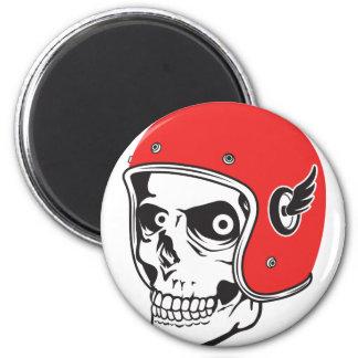 ☞ Skullracer motorcycle helmet Magnet