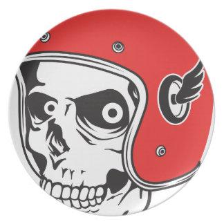 ☞ Skullracer motorcycle helmet Plate