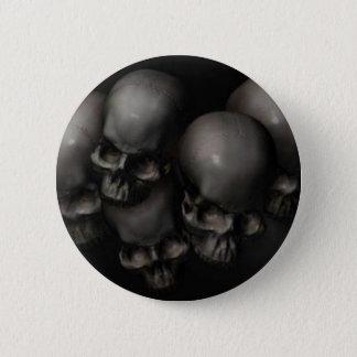 Skulls 6 Cm Round Badge