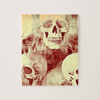 Skulls a spooky Jigsaw Puzzle bywhacky