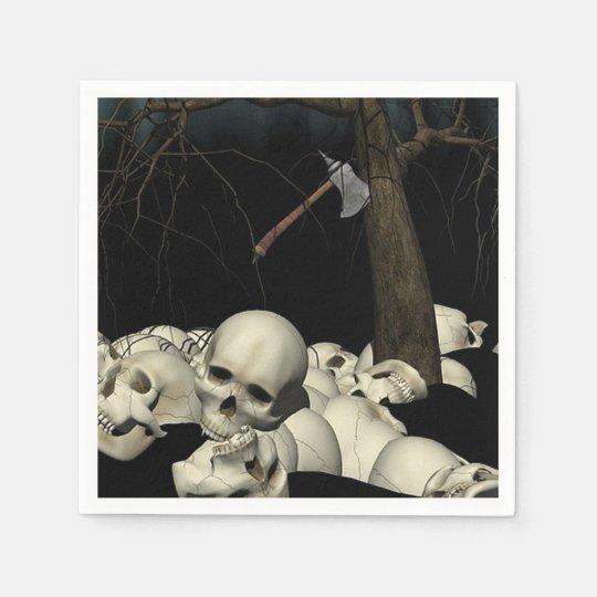 Skulls and Axe Disposable Napkin