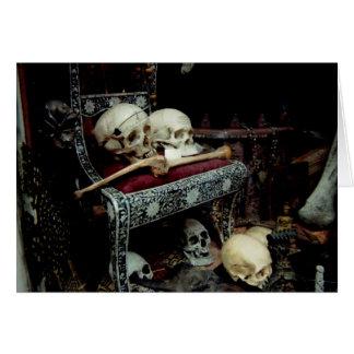Skulls and Bones on Throne Card