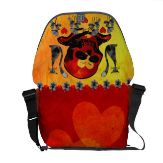 Skulls and Cats Courier Bags
