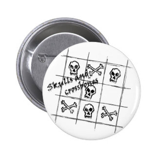 skulls and crossbones Button