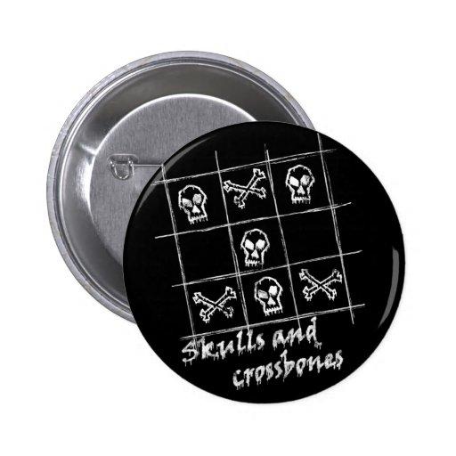 skulls and crossbones II Button