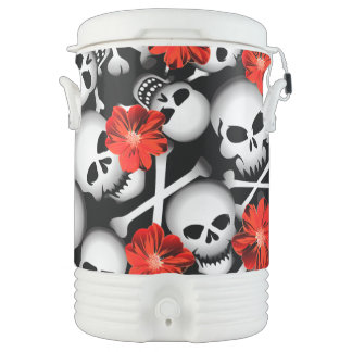 Skulls and flowers cooler