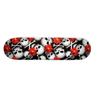 Skulls and flowers skateboards