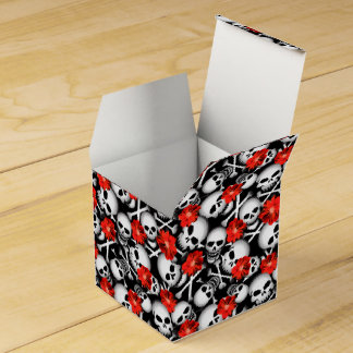 Skulls and flowers wedding favour box