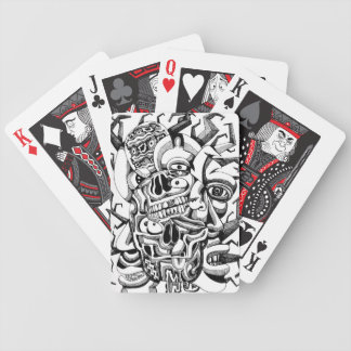 Skulls and Meat Heads Bicycle Playing Cards