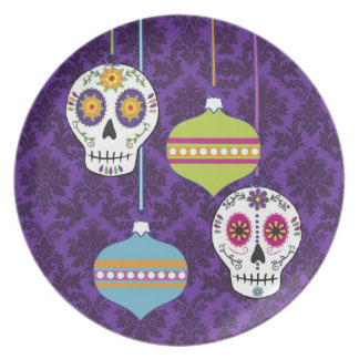 Skulls and Ornaments Plate