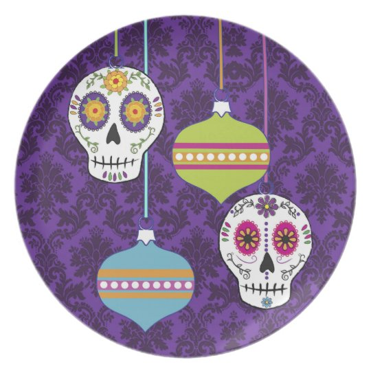 Skulls and Ornaments Plate