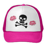 Skulls and Pink Kisses Cap