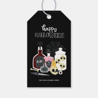 Skulls and Potions Illustrations Happy Halloween Gift Tags