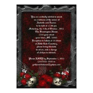 Skulls and Roses Goth Wedding Card