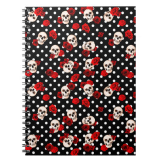 Skulls and roses notebooks