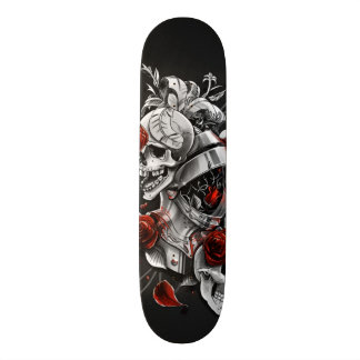 Skulls and Roses Skate Board