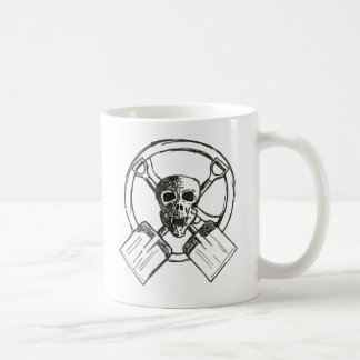 skulls and shovels coffee mug