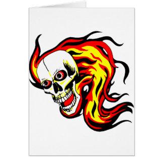 Skulls and Tikis Greeting Card
