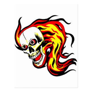 Skulls and Tikis Post Card