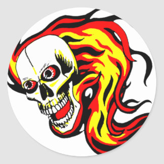 Skulls and Tikis Round Sticker