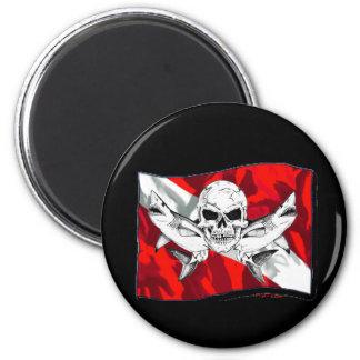 Skulls Collection by DiversDen 6 Cm Round Magnet