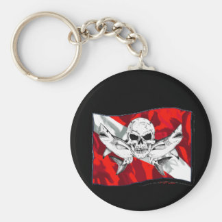 Skulls Collection by DiversDen Basic Round Button Key Ring
