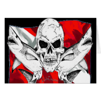 Skulls Collection by DiversDen Greeting Card