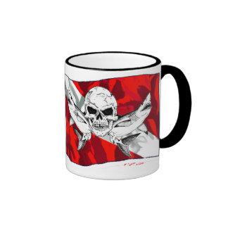 Skulls Collection by DiversDen Ringer Mug