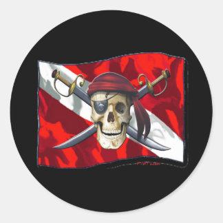 Skulls Collection by DiversDen Round Sticker