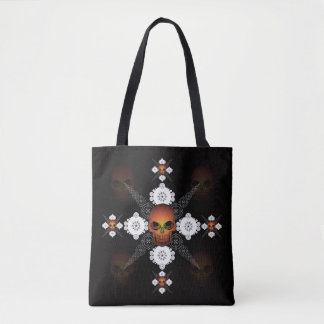 Skulls Cross Tote Bag