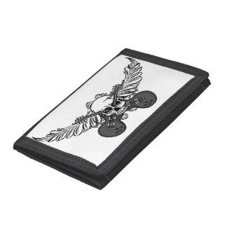 Skulls, Guitars, and Wings Tri-fold Wallet