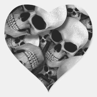Skulls Heart Sticker