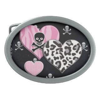 Skulls & Hearts Belt Buckle