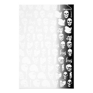 Skulls Horror Goth Death Rock Monster Personalised Stationery