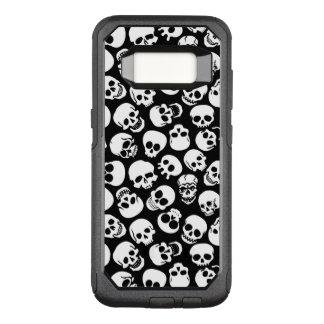 Skulls in Black Background Pattern OtterBox Commuter Samsung Galaxy S8 Case