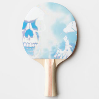 Skulls in the Clouds Ping Pong Paddle