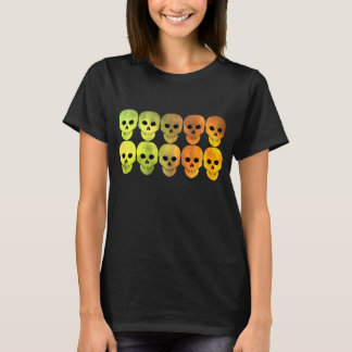Skulls in vibrant Autumn colours T-Shirt