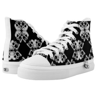 Skulls Kaleidoscope High Tops