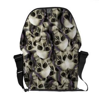 skulls messenger bag