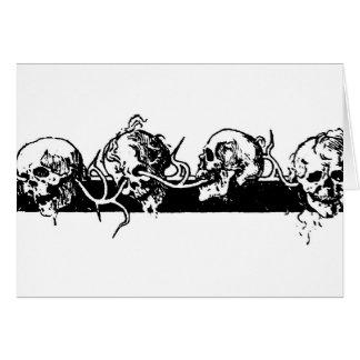 Skulls on a Vine. Circa 1901 Mexico. Card