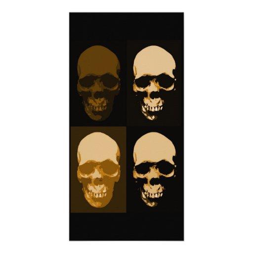 Skulls Pop Art Style Customized Photo Card