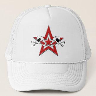 Skulls Red Star Hat