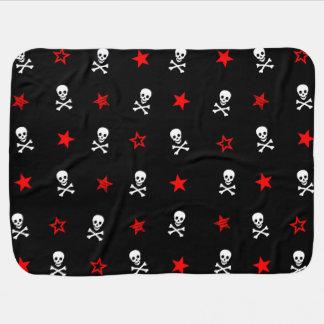 || Skulls & Red Stars || Baby Blanket