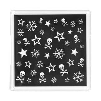 +{ Skulls & Snowflakes }+ Acrylic Tray