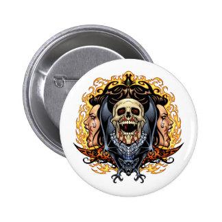 Skulls, Vampires and Bats customizable by Al Rio. 6 Cm Round Badge